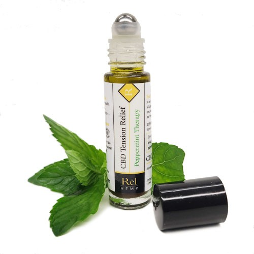 Rel Hemp Tension Relief CBD Roll On Peppermint Therapy
