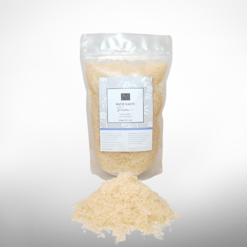 photo of Lavender and lemongrass bath salt package by ReL Hemp