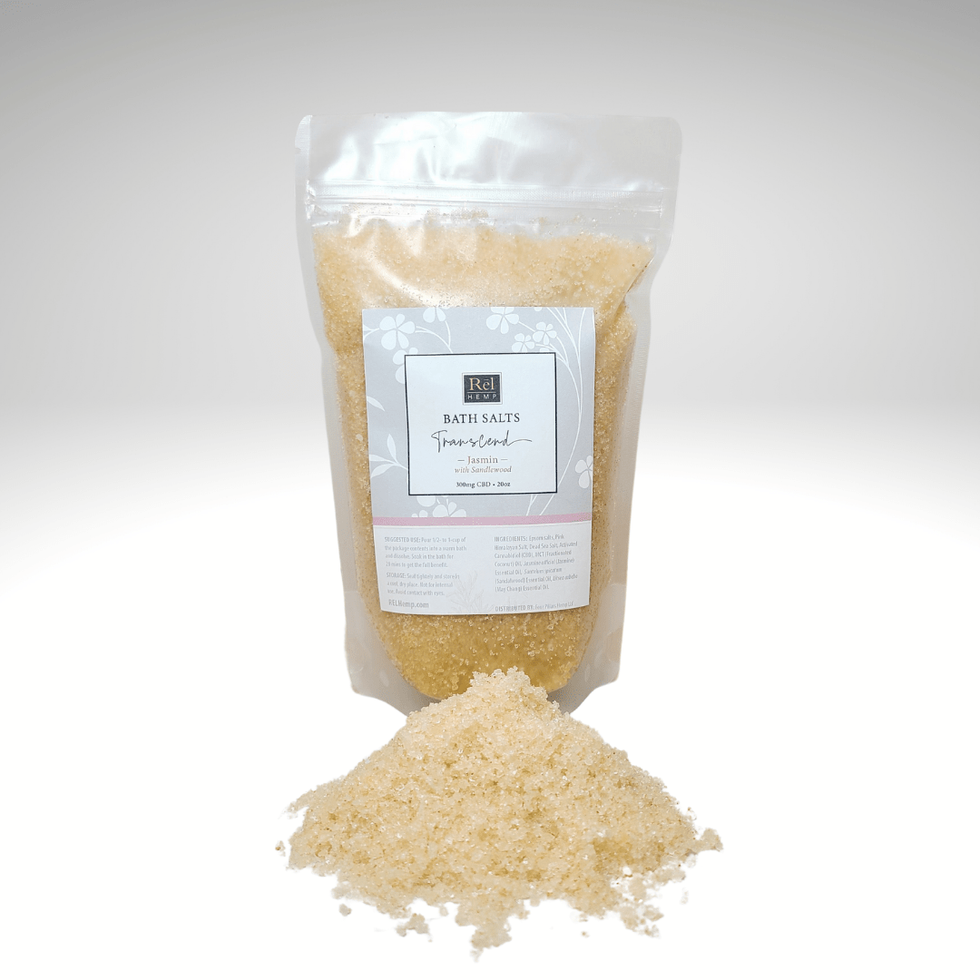 photo of Transcend Bath soaking salts in its pouch.